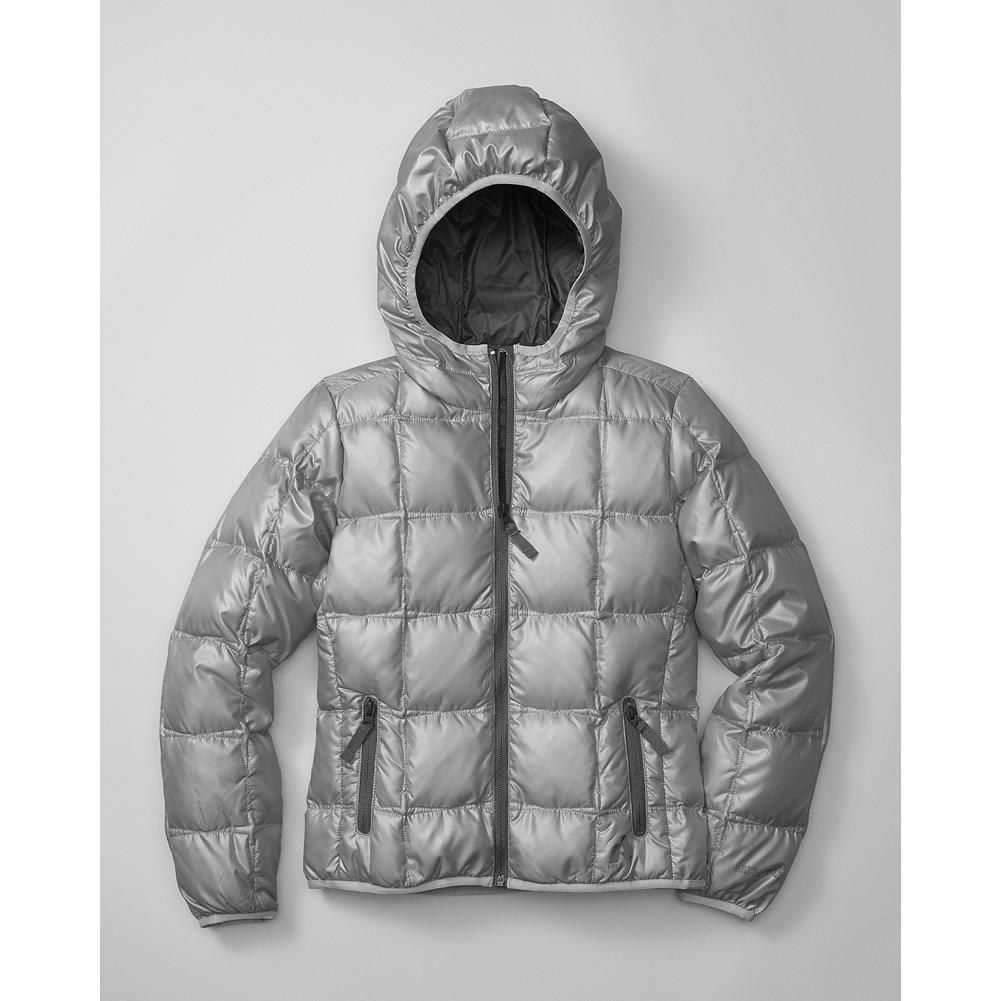 Eddie Bauer Girls' Limited-Edition Hooded Downlight Jacket - Mountain Guide in Training(TM) This hooded version of our popular Downlight sweater is insulated with 600 fill Premium European Goose Down for reliable, lightweight warmth during any outdoor adventure. - $49.99
