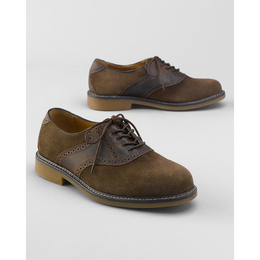 Eddie Bauer Bass Buchanon Oxford Saddle Shoes - A classic made better by Bass, these saddle shoes will make a refined style statement every time you slip them on. Soft suede and leather upper, fully padded insole with arch support and flexible nonslip rubber outsole. - $59.99