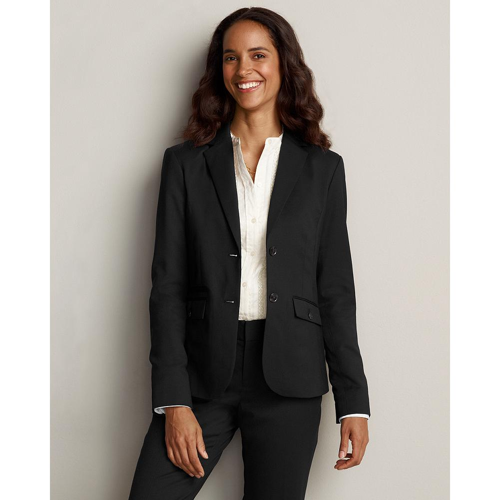 Eddie Bauer Wool Gabardine Blazer - Made of a high-quality blend of 98% wool and 2% spandex, this season-spanning blazer helps regulate your body temperature, keeping you warm in the winter and cool in the summer. A hint of stretch ensures a sleek, yet comfortable fit that moves with you. - $199.95