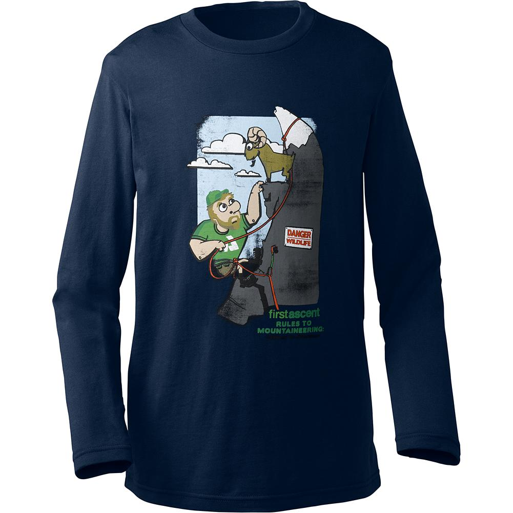 Eddie Bauer Kids' Long-Sleeve Graphic T-Shirt - Mountain Guide in Training(TM) Soft organic cotton keeps young adventurers cool and comfy during any outdoor endeavor. - $6.99