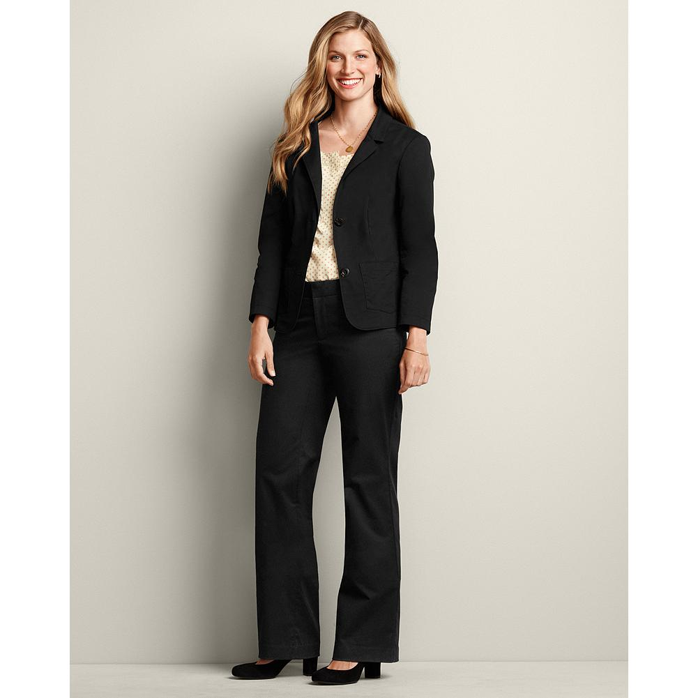 "Entertainment Eddie Bauer Curvy Blakely Stretch Cotton Twill Trousers - Smaller waist; mid-rise. Fuller hip and thigh. True hourglass body shape. Look effortlessly pulled-together, dressed-up or down. Versatile and lightweight fabric, perfect transitional wear for spring through fall. Imported.    The inseam length for this style increased an inch, to better align with industry standards. Regular: 33"", Petite 30"", and Tall 36"". - $19.99"
