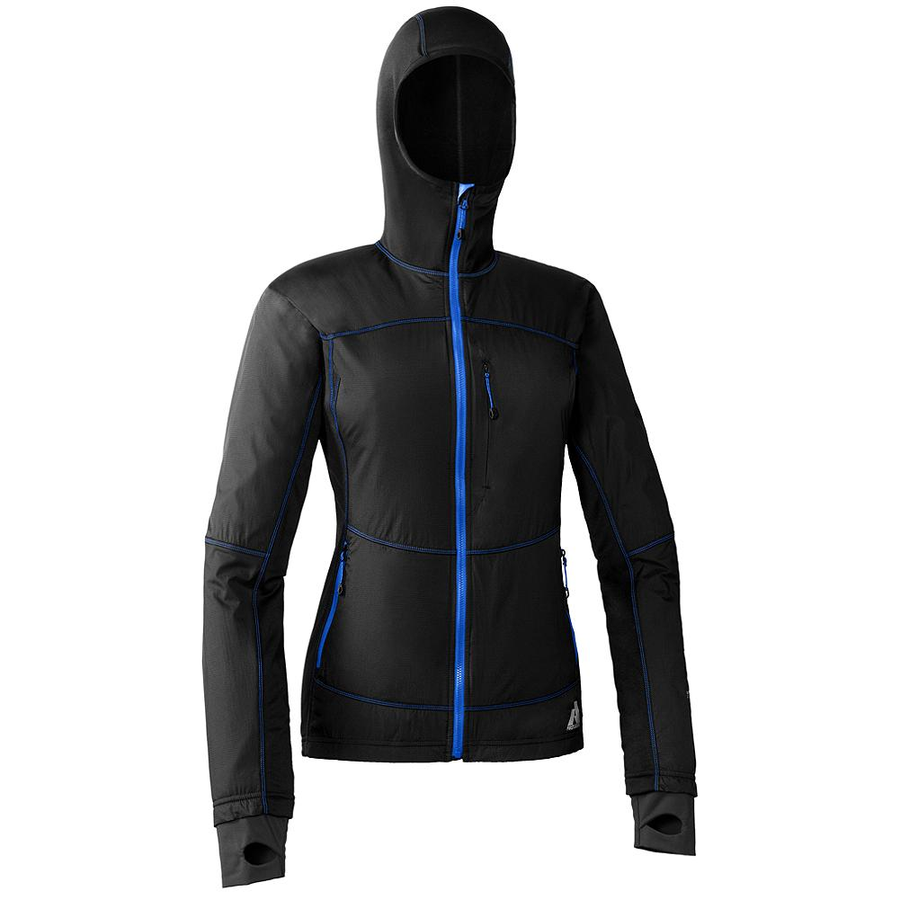 Ski Eddie Bauer Accelerant Jacket - Whether worn as an outer insulator, layered under a ski shell or packed in reserve, this multi-functional hybrid jacket is ideal for stop-and-go activities, such as ski touring and alpine climbing. Flatlock seams shave bulk and reduce chafing. Breathable stretch fleece underarms and side panels vent heat, wick moisture and enhance mobility.               Watch Product Demo - $179.00