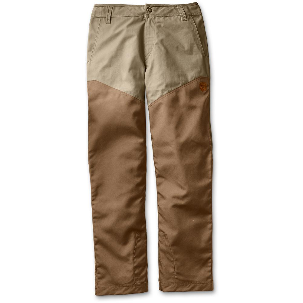 Hunting Eddie Bauer Yakima Breaks Upland Pants - The ideal brush pants, our 500-denier CORDURA nylon overlaid classic cotton design stands up to abuse in rough, local terrain or on destination hunting trips. Classic style with reinforcement at the instep for boot wear. Durable, water-resistant (DWR) finish sheds elements from mist to drizzle. Imported. - $129.00