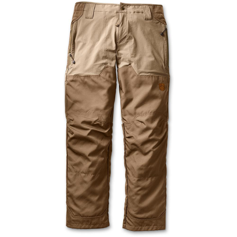 Hunting Eddie Bauer Partridge Upland Soft Shell Pants - Extremely comfortable technical pants for serious upland hunters. Tough enough for trekking through the grasslands or climbing volcanic rock, these pants will hold up even if your pointer gives in when footsore. Double Cordura fabric layer at the cuff instep for wear. Imported. - $149.00