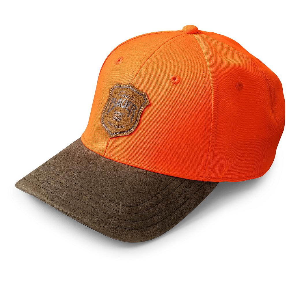 Hunting Eddie Bauer Blaze Hunting Cap - Out in the brush, ensure you can be seen from a distance with this blaze orange hunting cap. Contrasting color on the bill with an Eddie Bauer Sport Shop logo front and center adding the ideal finishing touch. Imported. - $19.95