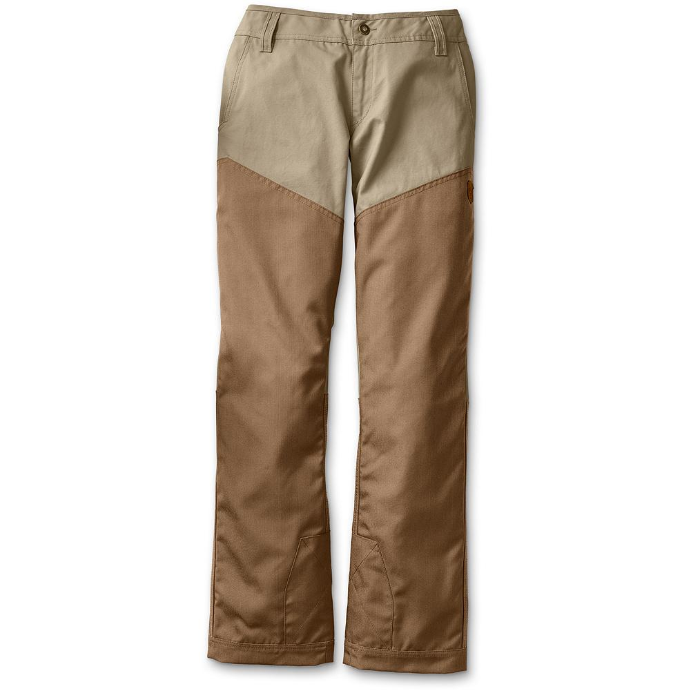 Hunting Eddie Bauer Yakima Breaks Upland Pant - Our women's specific classic 100% cotton brush pants are made with water-repellent, 500 denier CORDURA 100% nylon fabric overlay. Classic style with reinforcement at the instep for boot wear. Women's specific design and fit. Imported.               Watch Product Demo - $129.00
