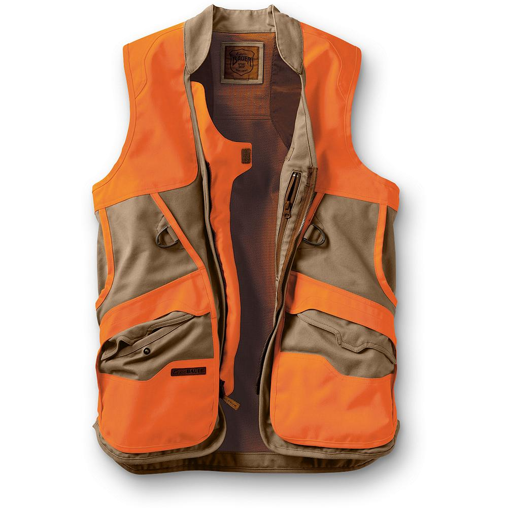 Hunting Eddie Bauer Mabton Flats Vest - This performance-fit hunting vest is what our founder would wear today while in the scrub of Eastern Washington searching for game birds. It is built with water-repellent CORDURA fabric in body and overlays to let you push through wild rose and briars. Coated, nylon-lined bellows game bag big enough to hold a brace of ringnecks; zips closed. Shell pockets with tuck-in flaps and interior transmitter pockets. Cotton/CORDURA nylon shell and 530-denier CORDURA polyester overlays.  Durable, water-resistant (DWR) finish.               Watch Product Demo - $199.00