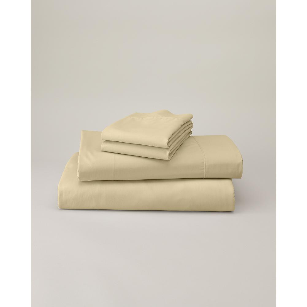 Entertainment Eddie Bauer 200 Thread-Count Egyptian Cotton Percale Sheet Set - Our percale sheet sets are made of luxuriously soft, yet remarkably strong Egyptian cotton, ensuring sweet dreams for years to come. Sheet set includes one flat and one fitted sheet, and two pillowcases (twin includes one). imported. - $44.99