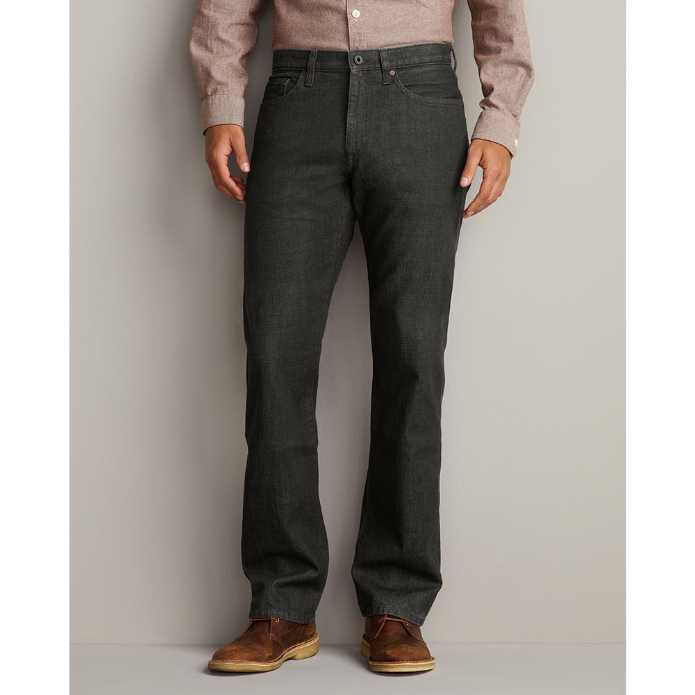Eddie Bauer Straight Fit Color Bull Denim Jeans - Inspired by outdoor hues, these rugged jeans are made of richly colored cotton denim and authentically worn in all the right places. Cut straight through the legs, seat and thigh for a clean classic look. Imported. - $14.99