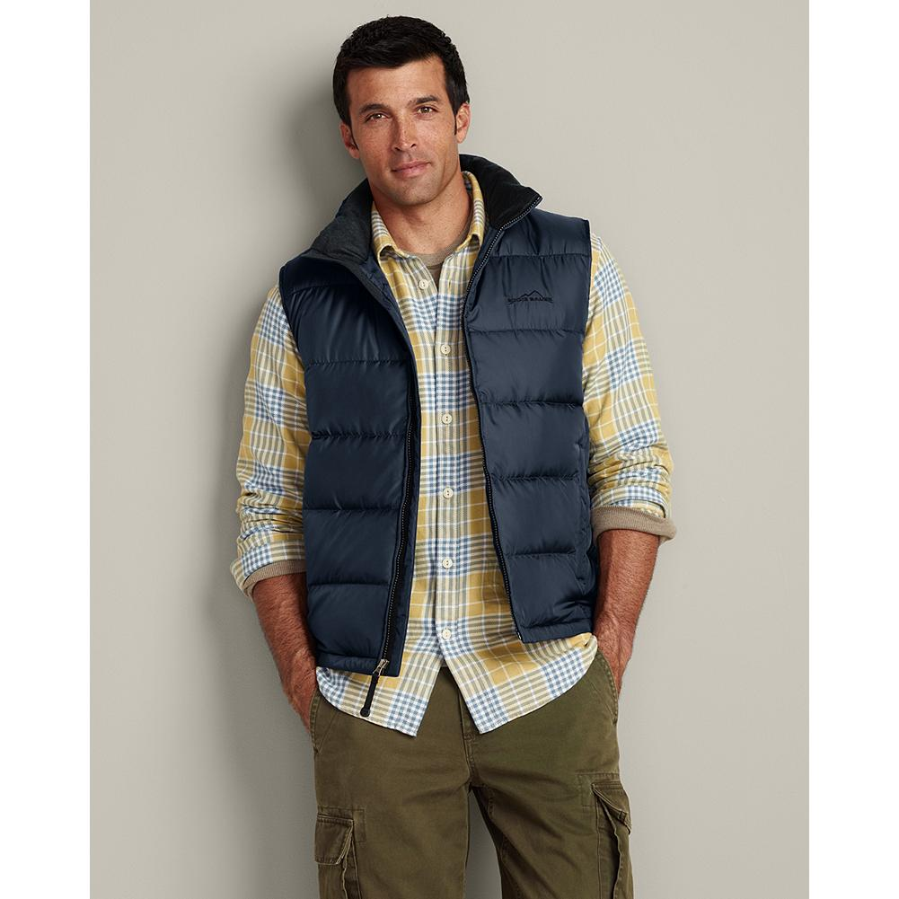 Entertainment Eddie Bauer Classic Down Vest - The ultimate in cross-seasonal versatility, this ultralight vest is comfortable virtually year-round. 550 fill Premium European Goose Down. Classic fit. Polyester shell. Imported. - $89.95