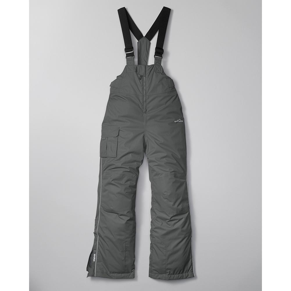 Ski Eddie Bauer WeatherEdge Kids' Unisex Ski Bib - Mountain Guide in Training(TM) Our WeatherEdge Ski Bib keeps your little snow bunny warm and toasty whether the day calls for snowball battles in the backyard or an action-packed day on the slopes. - $49.99