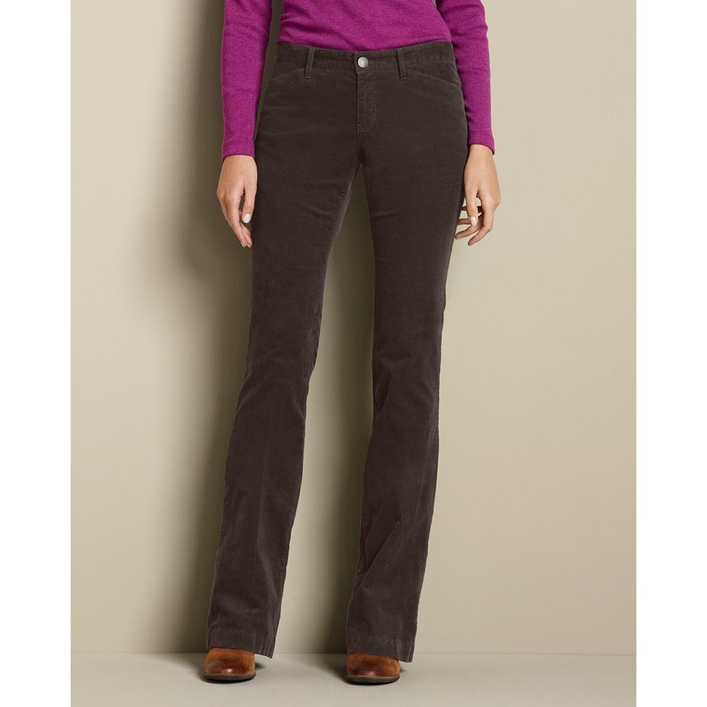 "Eddie Bauer Curvy Cord Trousers - Smaller waist; mid-rise. Fuller hip and thigh. True hourglass body shape. Our 18-wale stretch corduroy, in rich seasonal colors, adds texture to this flattering trouser silhouette. Imported.   The inseam length for this style increased an inch, to better align with industry standards. Regular: 33"", Petite 30"", and Tall 36"". - $14.99"