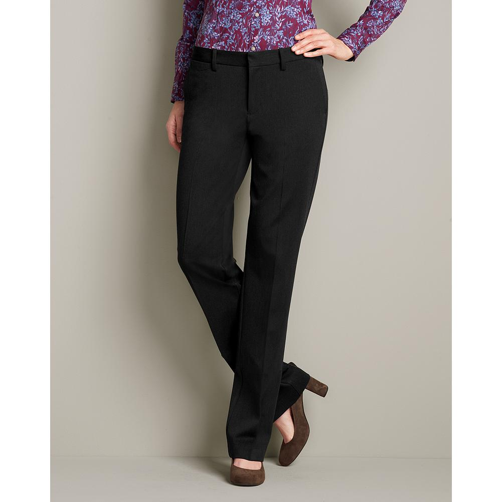 Entertainment Eddie Bauer Slightly Curvy Washable Stretch Trousers - Part of our impeccable, washable stretch collection, these trousers are made of a refined, mid-weight fabric that's perfect for any occasion. Standard waist; mid-rise. Slightly fuller hip and thigh. Modified hourglass body shape. - $79.95