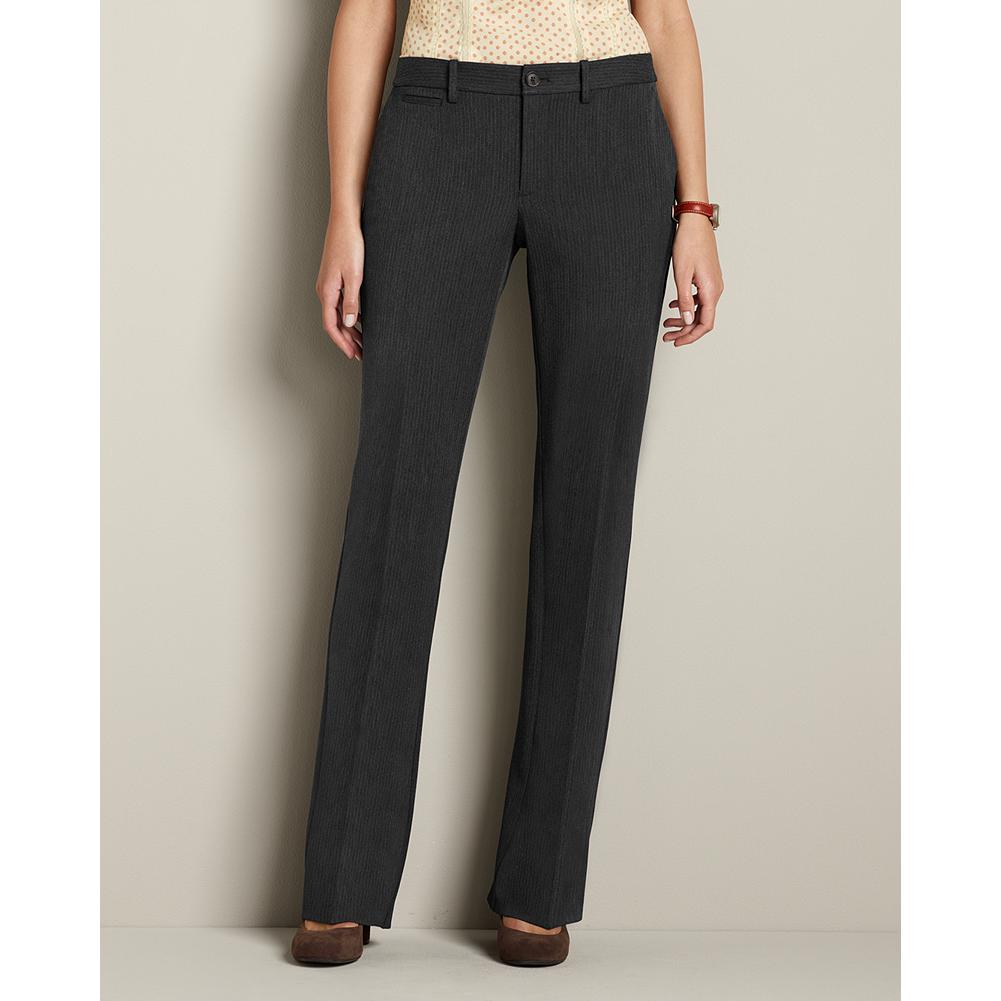 Entertainment Eddie Bauer Curvy Blakely Washable Stretch Pattern Trousers - Part of our impeccable, washable stretch collection, these trousers are made of a refined, mid-weight fabric that's perfect for any occasion. Smaller waist; mid-rise. Fuller hip and thigh. True hourglass body shape. - $29.99