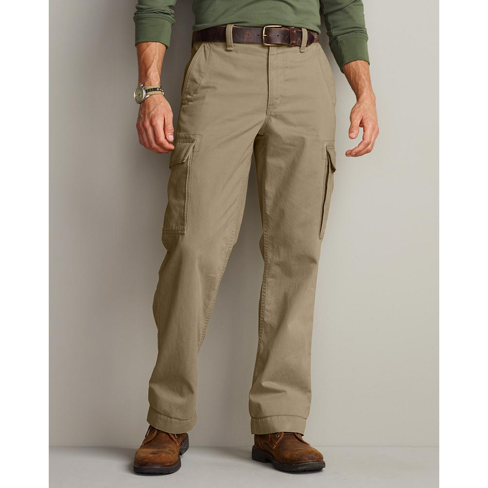 Eddie Bauer Relaxed Fit Legend Wash Cargo Pants - Our exclusive Legend Wash process ensures that these cargo pants are soft and comfortable right from the start: no break-in period required. Relaxed fit, military-inspired styling and six pockets (four with button closures). Cotton. Imported. - $49.99