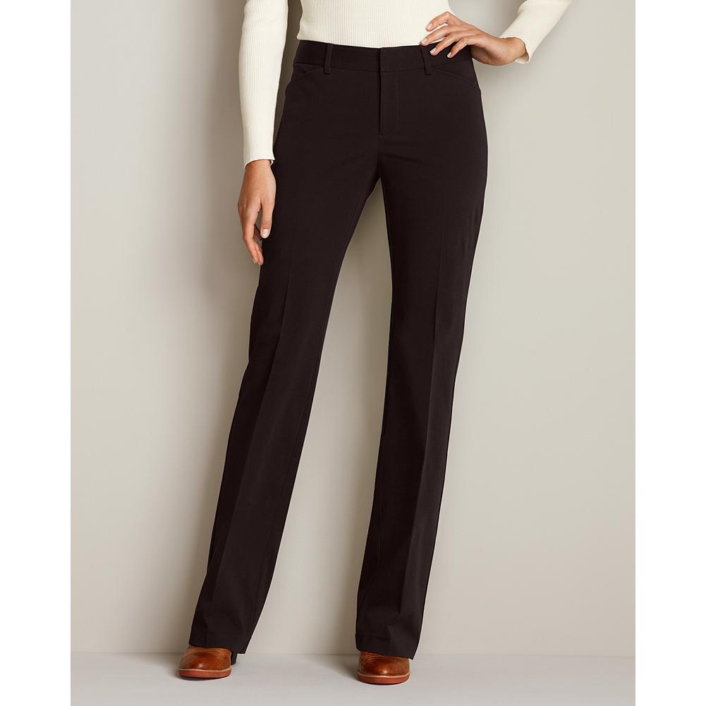 "Entertainment Eddie Bauer Curvy StayShape Stretch Twill Trousers - Smaller waist; mid-rise. Fuller hip and thigh. True hourglass body shape. Designed with excellent shape retention and two-way stretch comfort, our cotton stretch trousers offer an easygoing, dress-casual style that's perfect for the office and beyond. Imported.   The inseam length for this style increased an inch, to better align with industry standards. Regular & Plus: 33"", Petite 30"", and Tall 36"". - $69.95"