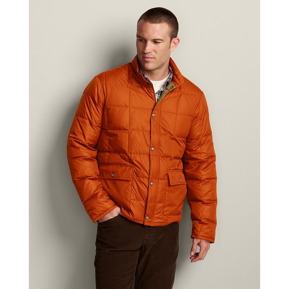 Entertainment Eddie Bauer Super Sweater Down Jacket - Delivers more of a style statement than your typical down jacket, without losing any of the warmth-without-weight you depend on. Perfect fall layer for light activities and casual play. 550 fill Premium European Goose Down. Snap front and pockets. Hidden cuff elastic seals out drafts. - $27.99