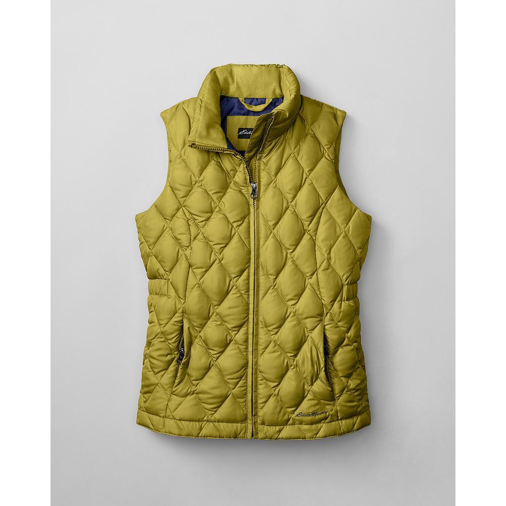 "Entertainment Eddie Bauer Girls' Classic Down Vest - Mountain Guide in Training(TM) This smaller version of our Classic Down Vest is insulated with 550 fill Premium European Goose Down to keep active girls warm and comfortable all winter long. Durable polyester shell. Cozy stand-up collar. Zippered handwarmer pockets. Length: 21 1/2"". - $19.99"