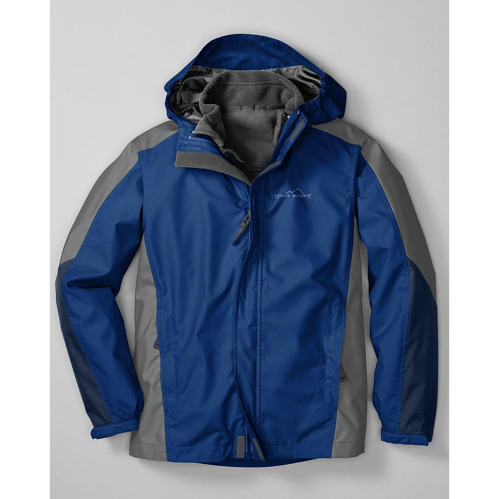 Entertainment Eddie Bauer Boys' 3-in-1 Snowfoil Jacket - Mountain Guide in Training(TM) An ingeniously designed jacket that will keep your young adventurer comfortably bundled up no matter what the weather has in store. - $49.99
