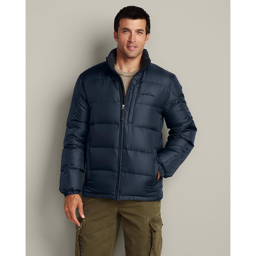 Eddie Bauer Classic Down Jacket - With its legendary Eddie Bauer quality, 550 fill Premium European Goose Down and great price, this jacket is all about value and performance. 550 fill Premium European Goose Down throughout. Channel-quilted polyester shell. Two secure handwarmer pockets. Internal chest pocket. Imported. - $129.00
