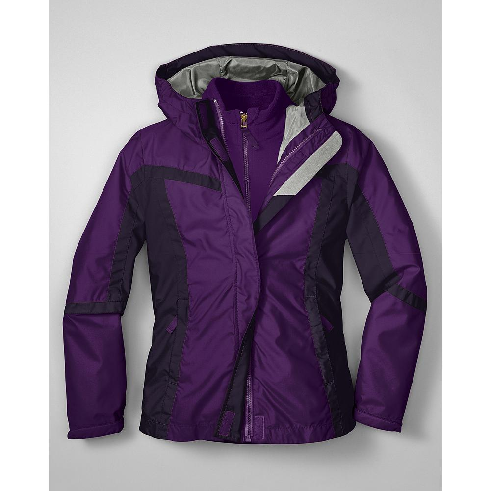 Entertainment Eddie Bauer Girls' Snowfoil 3-in-1 Jacket - Mountain Guide in Training(TM) An ingeniously designed jacket that will keep your young adventurer comfortably bundled up no matter what the weather has in store. - $99.95