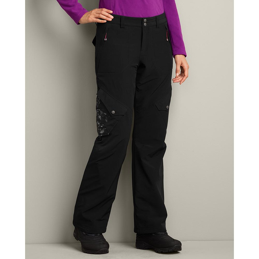 Ski Eddie Bauer Travex Lined Pants - Our fleece-lined Travex pants are ideal for cold-weather hikes, snowshoeing, cross-country skiing or anytime you want a little extra warmth next to your skin. A hint of spandex offers stretch for good fit during all your activities. - $39.99