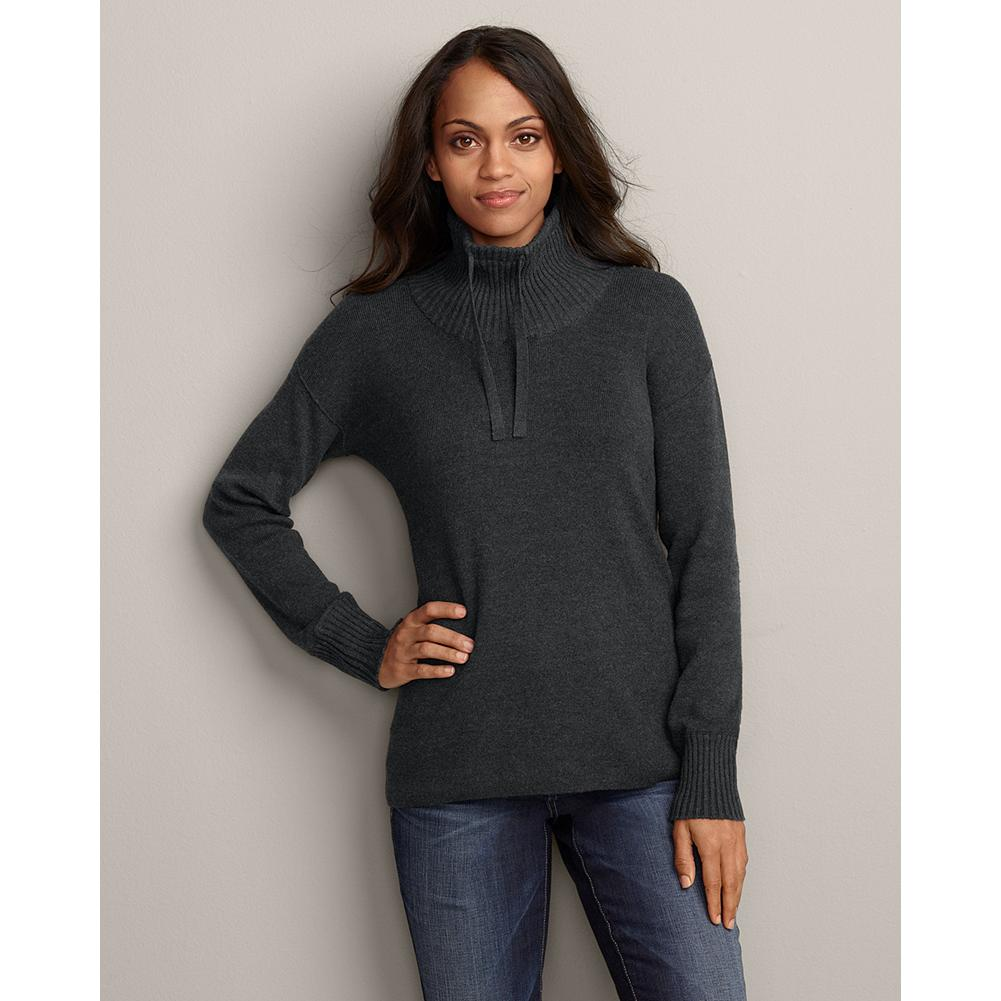Eddie Bauer Mockneck Tunic Sweatshirt Sweater - We've updated our easy-fitting tunic sweatshirt sweater so it's better than ever. Now made in a heavier weight cotton that provides extra coverage, so it feels even more like a true sweatshirt. Easy fit. Imported. - $19.99