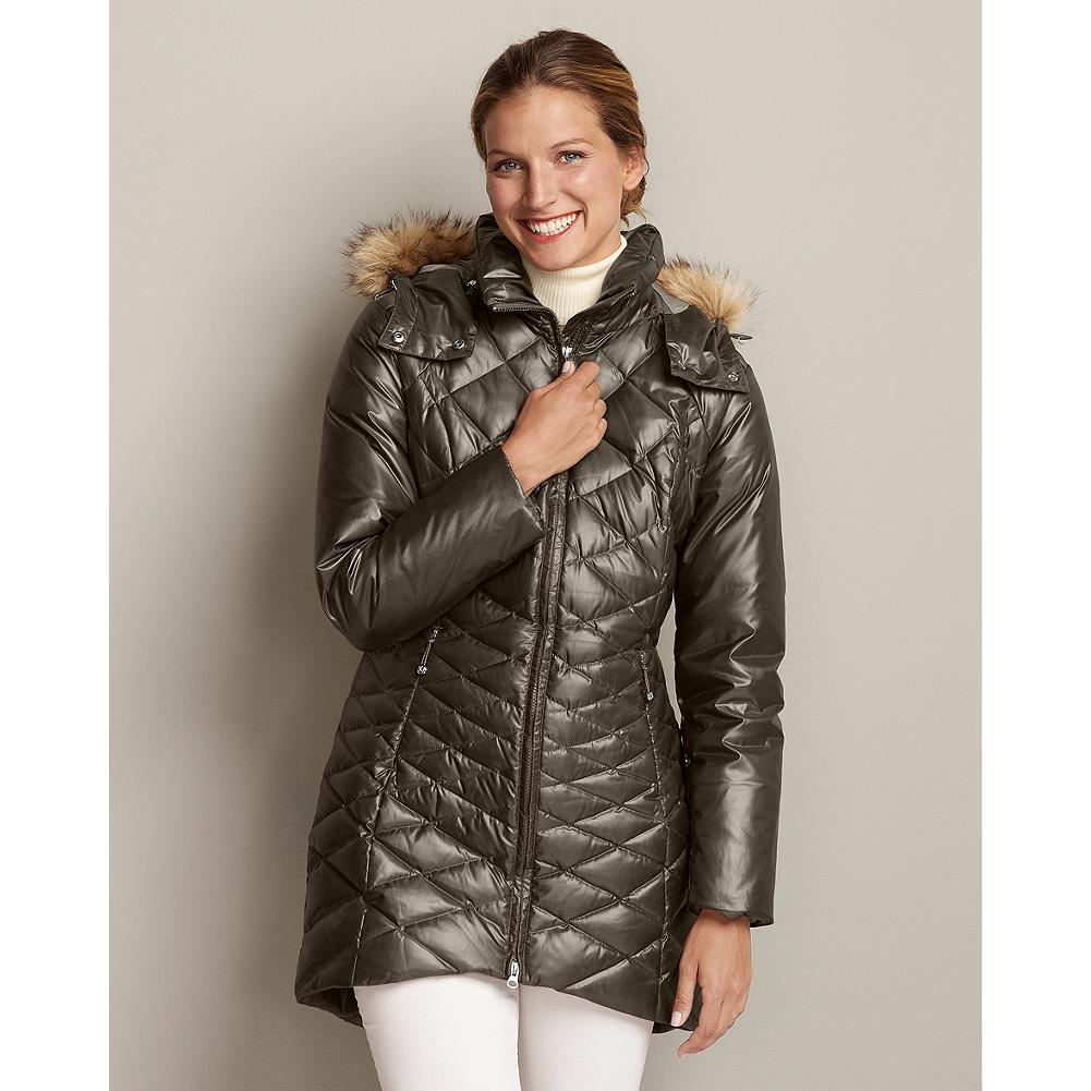 Eddie Bauer Stine Down Parka - Named after Eddie's wife Christine-or Stine, as he often called her-this stylish parka combines outstanding cold-weather performance with a sleek, modern silhouette. Classic Fit. Imported. - $67.99