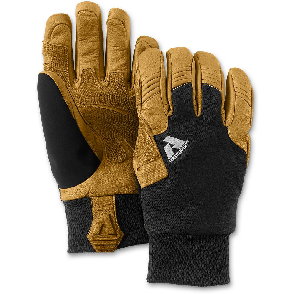 Ski Eddie Bauer Guide Gloves 2.0 - Our Guide Team's favorite gloves--updated for 2012. They wear them guiding, ski patrolling and ice climbing. No wonder. The Pittards leather is the highest-quality available anywhere-water-repellent (treat with the included Nixwax Waterproofing Wax for long-term protection and water resistance) and highly abrasion-resistant. The new, lower profile cuff design fits easily under outerwear cuffs, and the ultrafine merino wool-blend lining and PrimaLoft insulation keep your fingers warm. Note: women may want to size down. - $119.00
