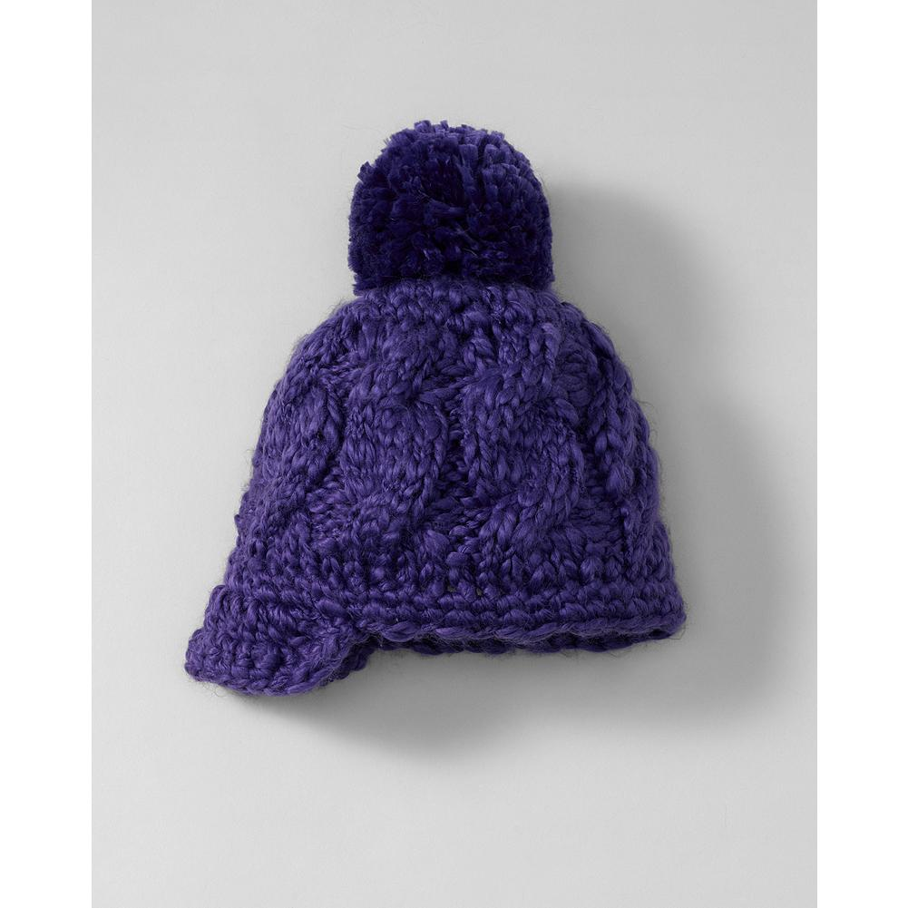 Entertainment Eddie Bauer Girls' Pom Hat - Mountain Guide in Training(TM) Knit in a fun, chunky stitch, our pom hat keeps little heads cozy and warm. Lined with microfleece for additional warmth. - $14.95