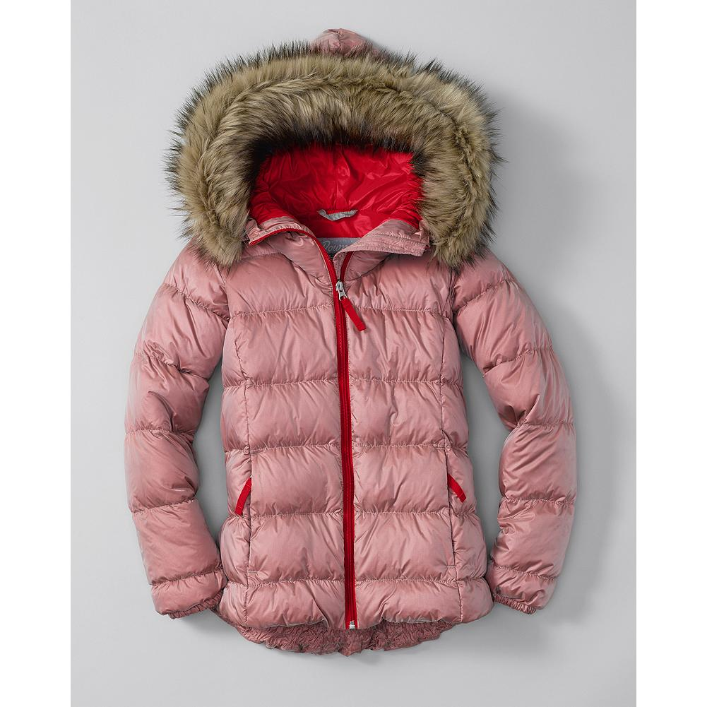 Entertainment Eddie Bauer Girls' Northern Aurora Down Jacket - Mountain Guide in Training(TM) Using different color fabrics for the shell and baffling gives our down jacket a subtle, shimmering effect, reminiscent of the Aurora Borealis. - $59.99
