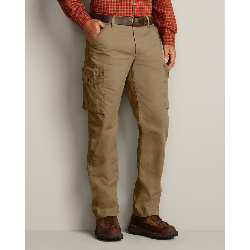 Eddie Bauer Relaxed Fit Sportsman Cargo Pants - Tight-waled Bedford cotton corduroy performance and style. The result? Cargo pants that are an ideal combination of rugged and refined. Triple-needle stitching for durability. Back flap pockets. Cargo fit. Imported. - $20.99