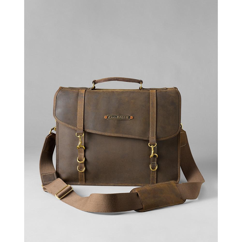 Camp and Hike Eddie Bauer Packhorse Leather Briefcase - The Packhorse briefcase was crafted from water-repellant oil-treated leather originally tanned for rugged hiking and work boots. The brief is the perfect combination of durable and soft, and an essential for the modern explorer. Made in USA. - $549.99