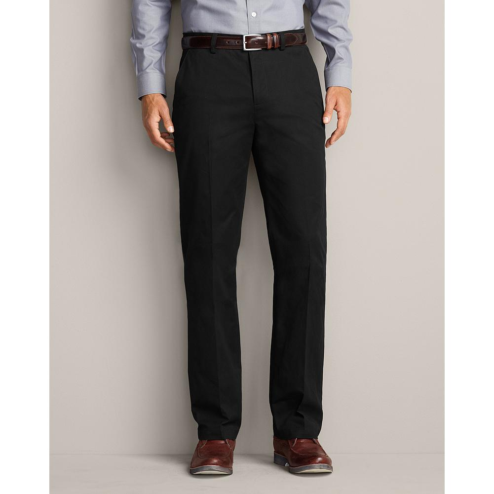 Eddie Bauer Classic Fit Compact Twill Pants - We combined clean styling and a crisp fabric to create the perfect wear-to-work trousers that are easy and comfortable enough for evenings and weekends, too. Tailored silhouette. Two front slant pockets; one back pocket. Classic fit. Imported. - $17.99