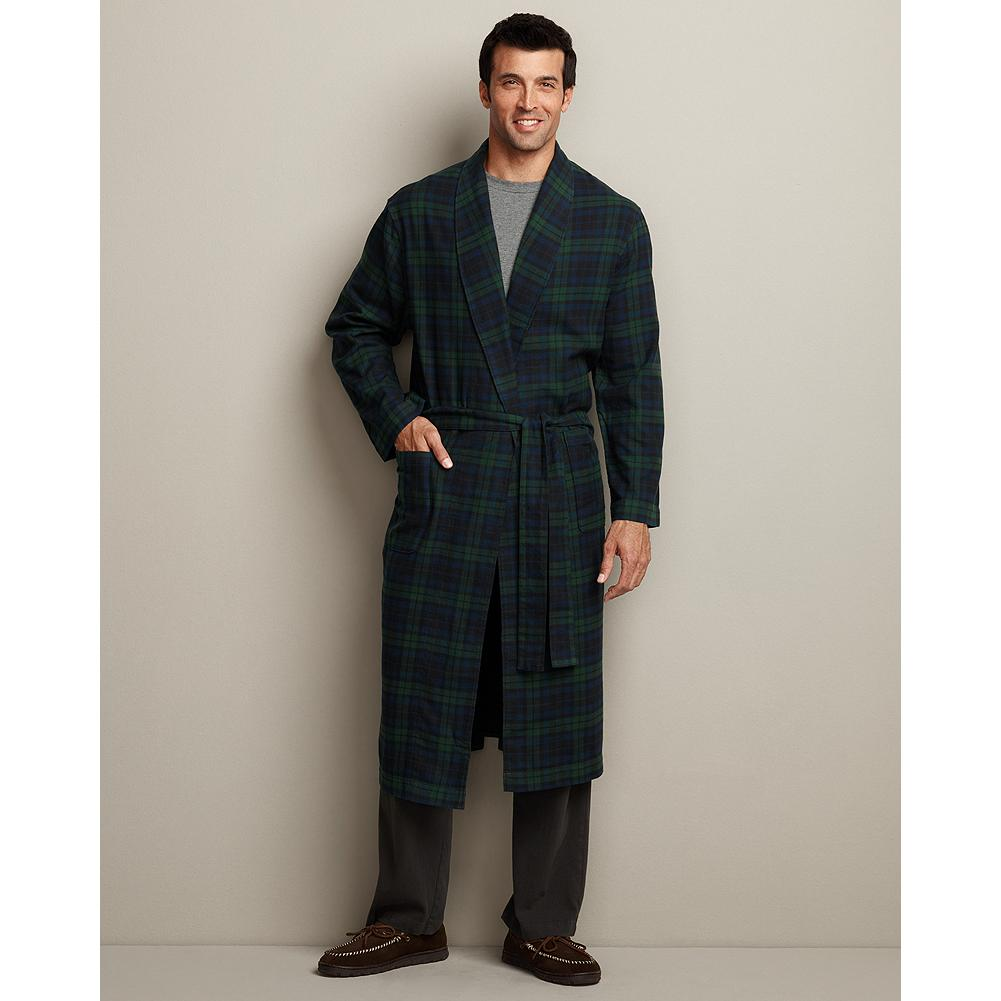 Eddie Bauer Flannel Robe - Our robe is made of plush cotton flannel for exceptional comfort and warmth. - $24.99