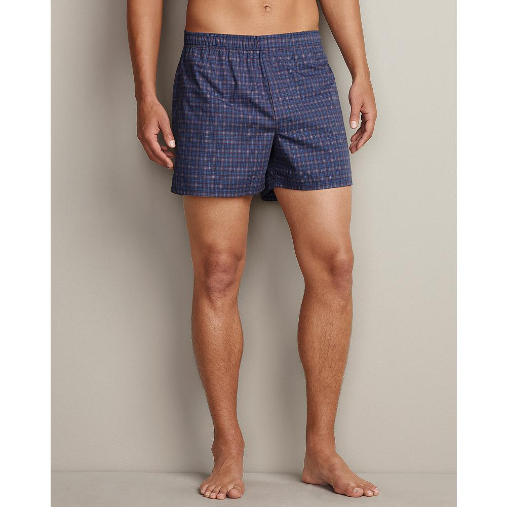 Eddie Bauer Woven Boxer Shorts - Our soft cotton poplin boxer shorts are prewashed to eliminate shrinkage. - $9.99