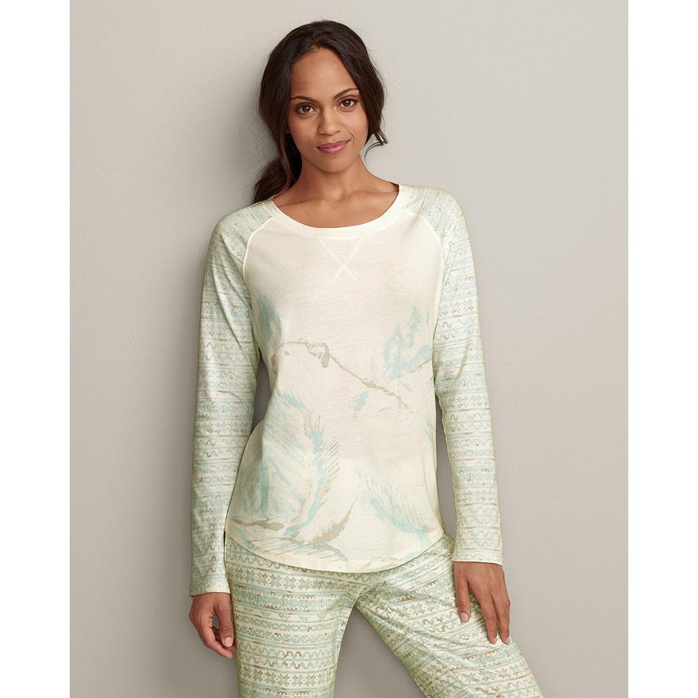 Hunting Eddie Bauer Polar Bear Sleep T-Shirt - Soft, cozy cotton sleep T-shirt with a screenprinted polar bear graphic on the front and jacquard sleeves. - $6.99