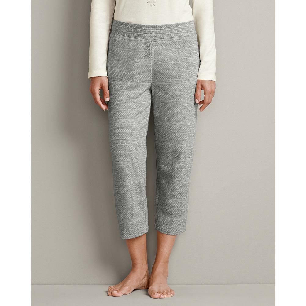 Eddie Bauer Sleep Capris - Soft cotton with a subtle knit-in pattern creates a cozy sense of texture in our new sleep capris. - $9.99