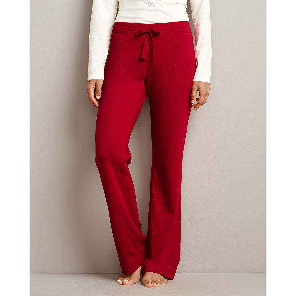 Eddie Bauer Striped Knit Sleep Pants - Our popular knit sleep pants are back, offering the same great quality and fit - now in cozy, double-layer cotton. Twill tape drawcord at waist. Perfect to mix and match with the other items in sleepwear collection. Mini stripe pattern. Classic fit. Imported. - $19.99