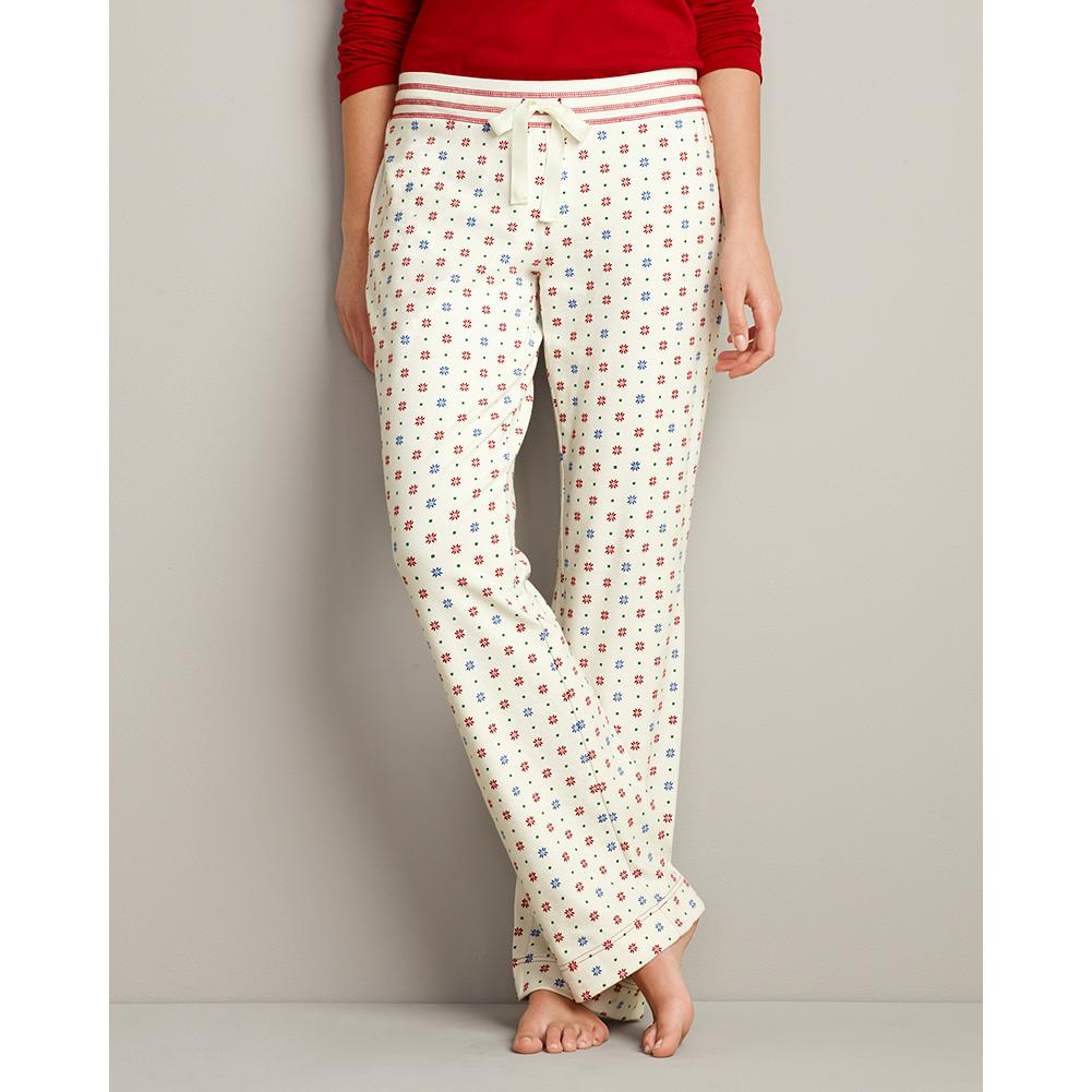 Eddie Bauer Printed Knit Sleep Pants - Our popular knit sleep pants are back, offering the same great quality and fit - now in cozy, double-layer cotton. Twill tape drawcord at waist. Perfect to mix and match with the other items in sleepwear collection. Classic fit. Imported. - $19.99