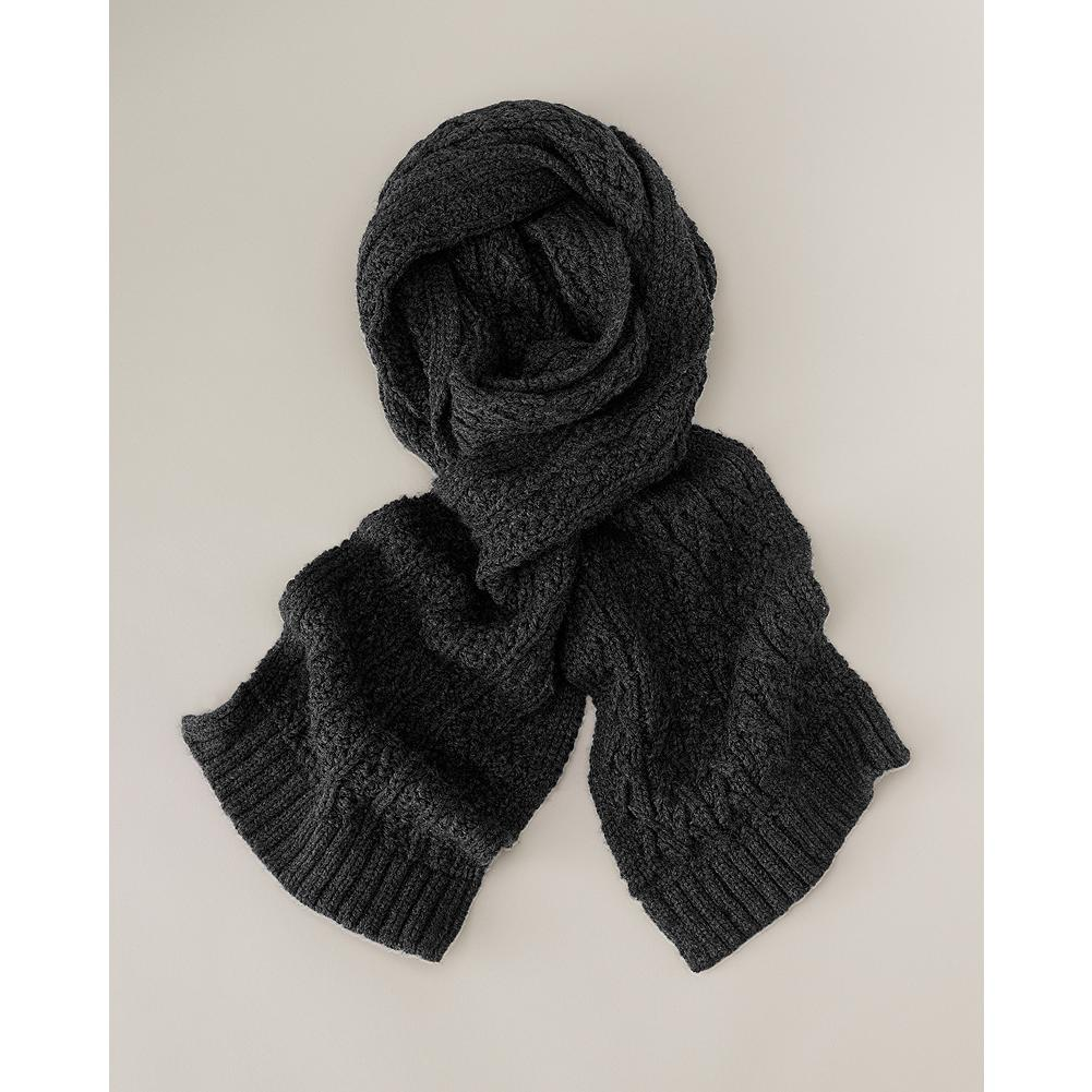 Eddie Bauer Cable Knit Scarf - Classic cable stitch scarf with ribbed trim in supersoft acrylic knit. - $9.99