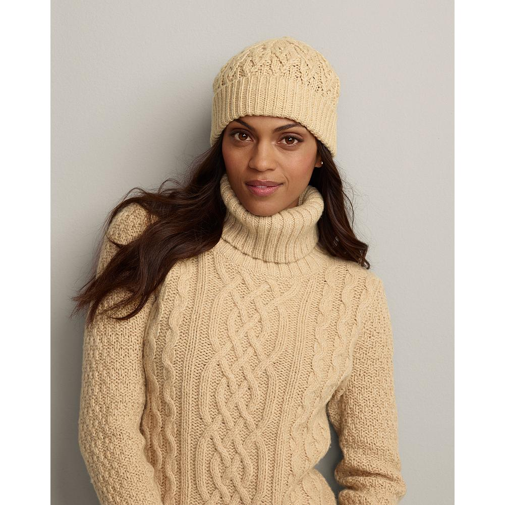 Eddie Bauer Cable Knit Hat - Classic cable pattern hat in a supersoft acrylic knit. - $9.99
