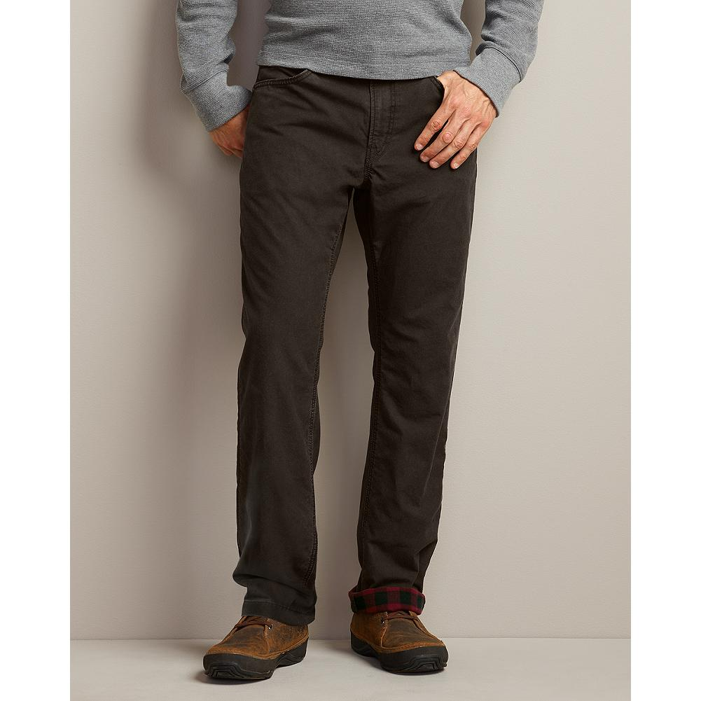 Eddie Bauer Straight Fit Flannel-Lined Utility Pants - Durable 8.5-oz canvas, triple-needle stitching and bar-tack reinforcements ensure that these hardworking utility pants will stand up to the most rugged use. And a soft flannel lining provides extra comfort and warmth, even on the coldest days. - $29.99