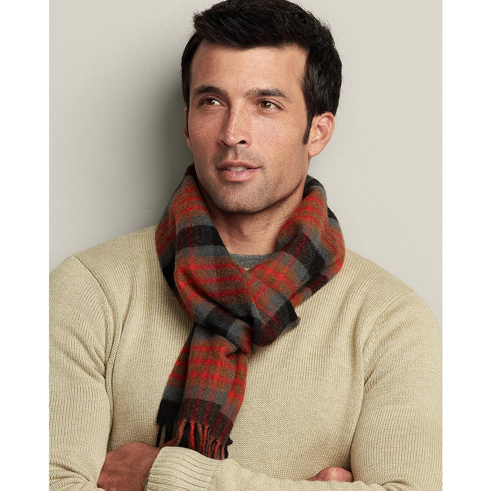 Eddie Bauer Woven Scarf - Wrap out the cold with this richly colored woven plaid scarf. - $14.99