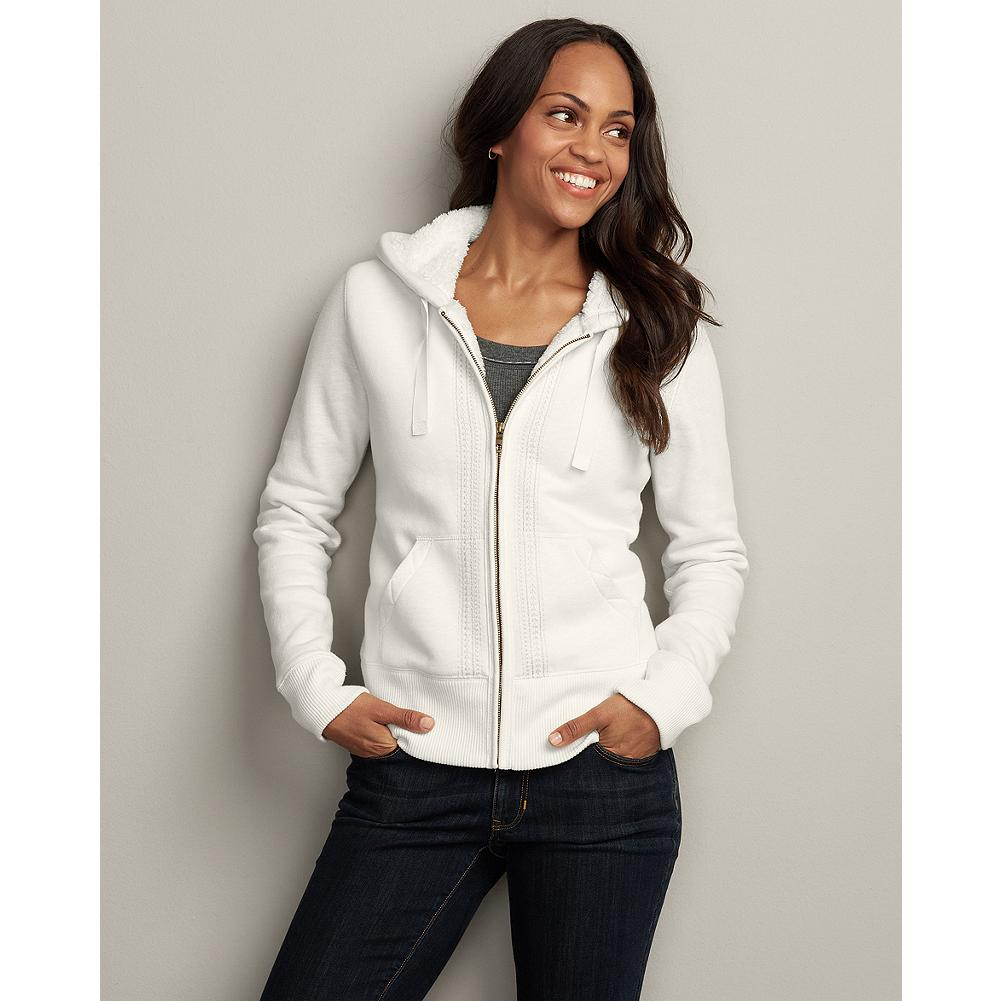 Eddie Bauer Embroidered Sherpa Hoodie - Our warmest, coziest, and softest sherpa hoodie yet - you won't want to take it off. - $19.99