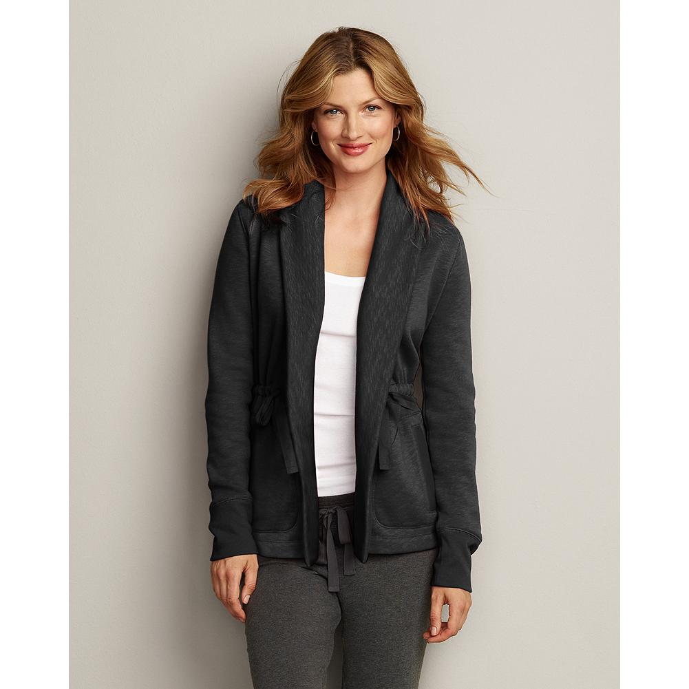 Eddie Bauer Slub Fleece Shawl Collar Cardigan - Ultra comfortable, cozy, and softly textural, this slub fleece cardigan complements our fleece cargo pants, jeans, or other casual wear. - $14.99