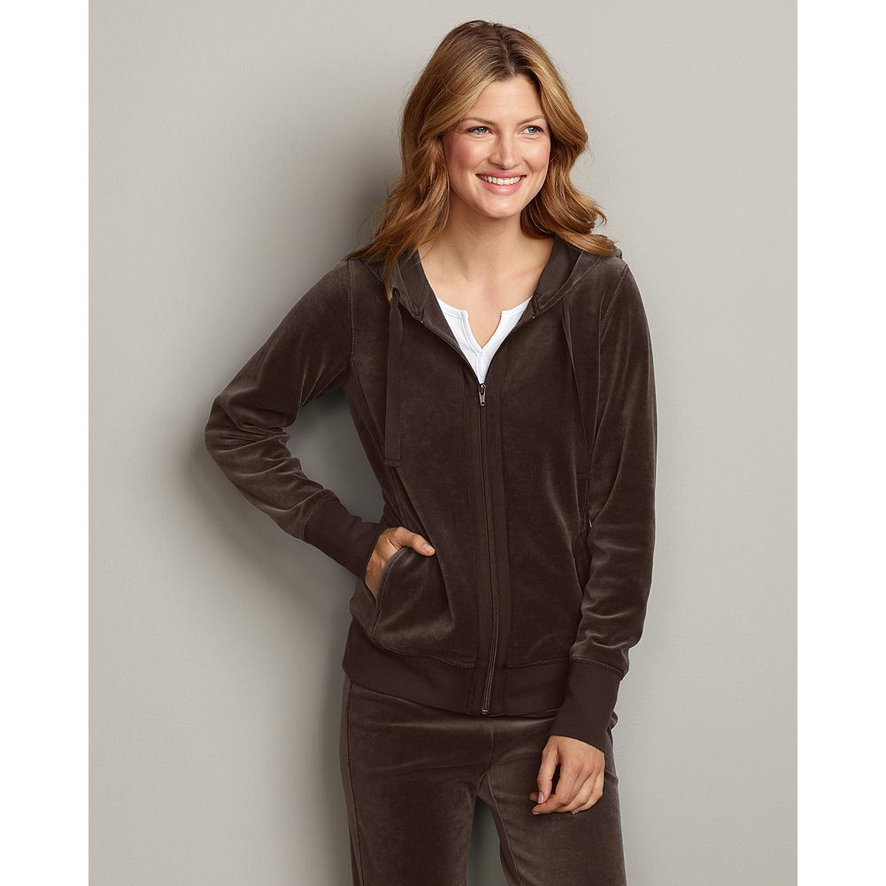 Eddie Bauer Velour Hoodie - Our best-selling velour hoodie is as exceptionally plush, soft and comfortable as ever. - $14.99
