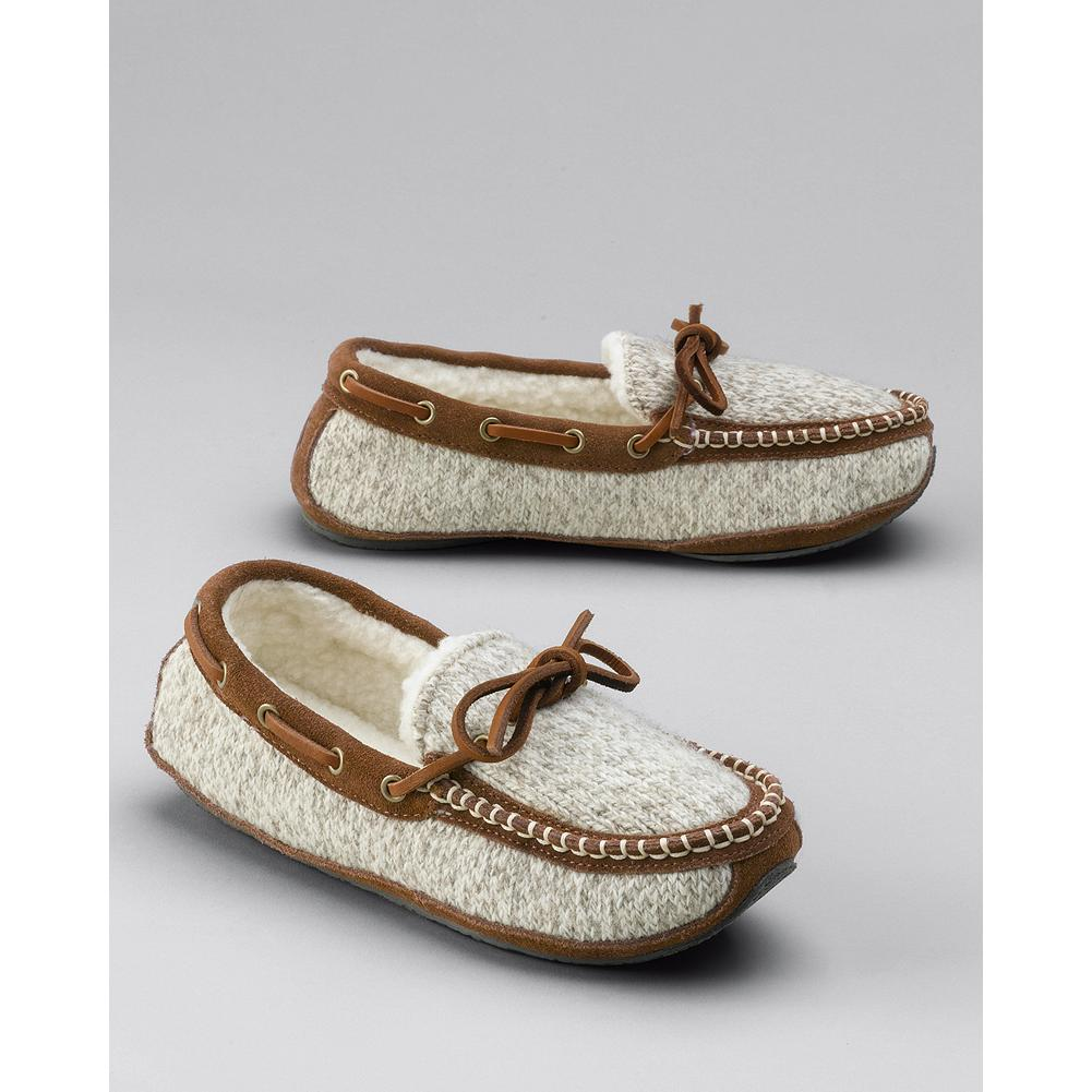 Entertainment Eddie Bauer Acorn Ragg Time Moccasin Slippers - Classic, hand-sewn ragg wool-and-suede moccasins for indoor and outdoor wear. - $80.00
