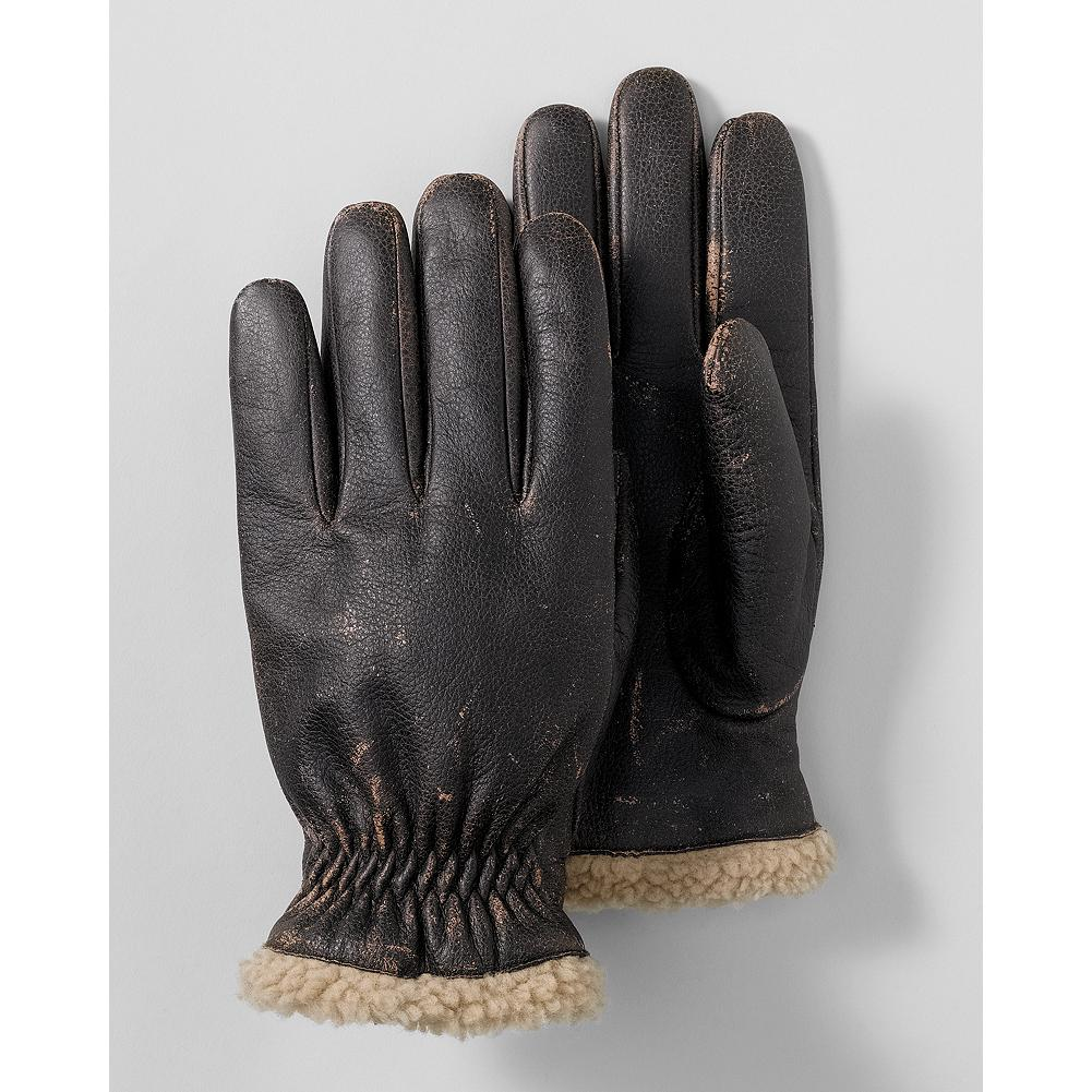 Eddie Bauer Burnished Leather Gloves - Distressed leather and a sherpa lining give these gloves a rugged look. - $11.99