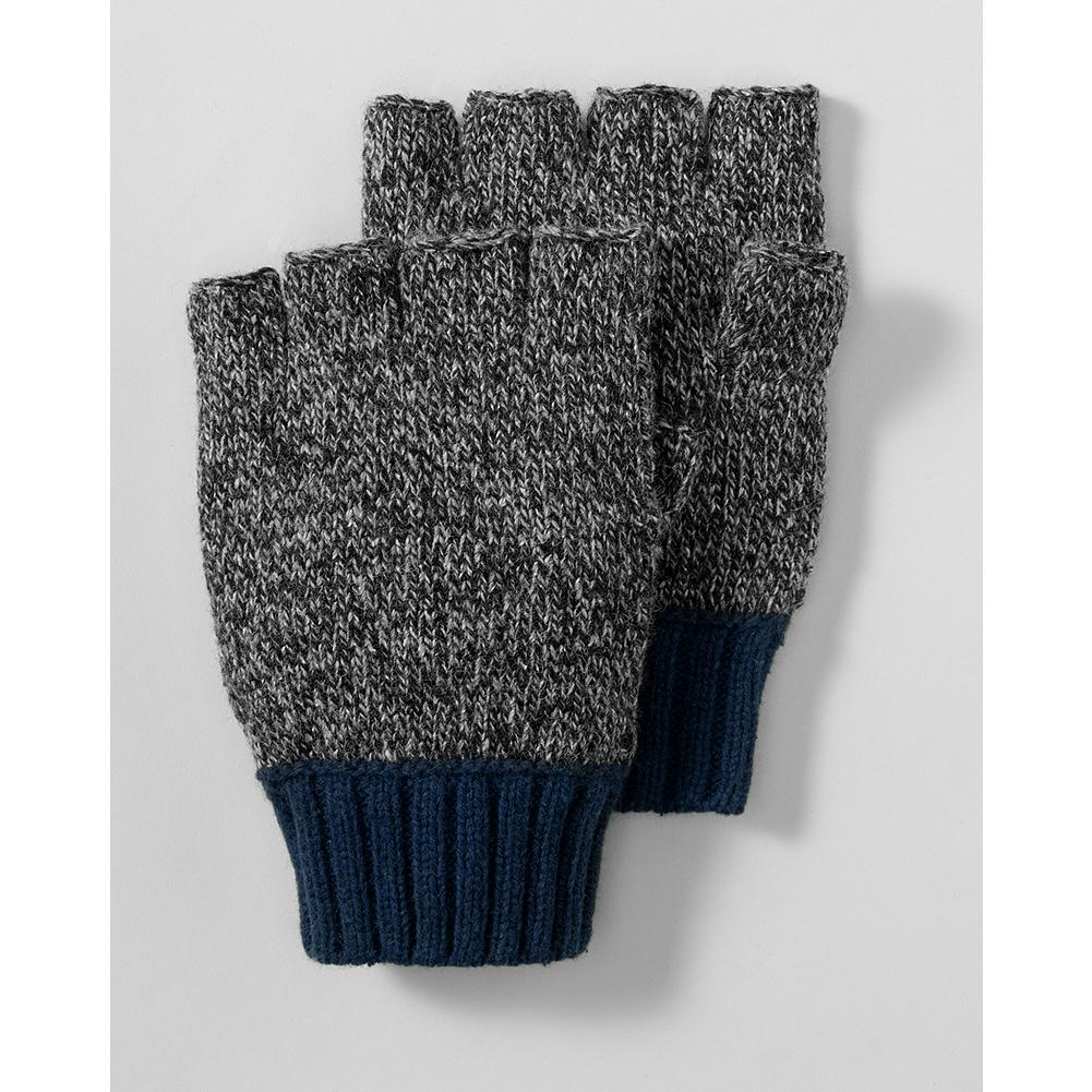 Eddie Bauer Wool Ragg Yarn Fingerless Gloves - These cozy fingerless gloves are made of a supersoft, durable wool blend. Exposed fingers allow extra dexterity for handling electronics or keys. - $9.99